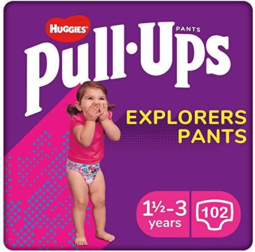 Huggies Pants Pull-Ups Niña Talla 5, 12-17 Kg 102 uds