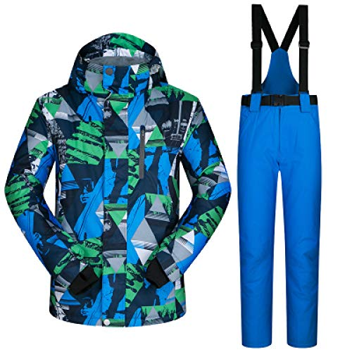 MEOBHI Skipakken voor heren, winddicht, waterdicht, warm, outdoor, sport, ski-jack en sneeuwbroek, sets winterski- en snowboarpakken