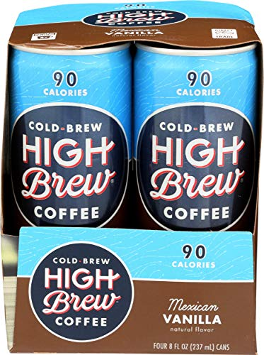 High Brew Coffee Mexican Vanilla, 32 oz, 4 ct