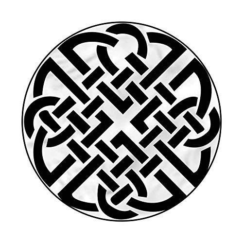Celtic Trellis Pattern Rug for Bedroom Dorm Home Girls Kids Ancient Scottish Design Knot 6'