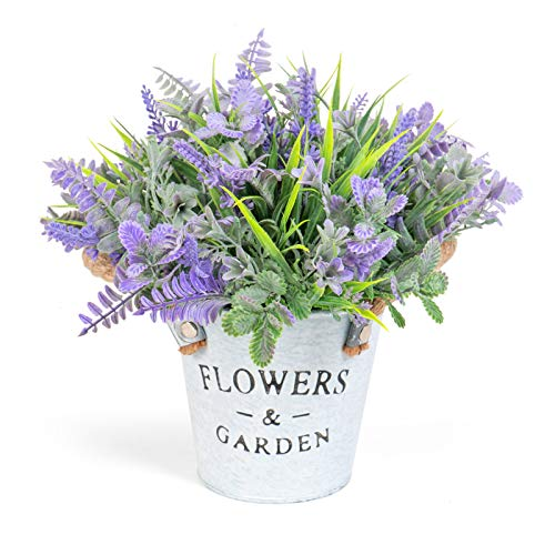 Timoo Fake Lavender Flowers Artificial Flowers for Decoration, Farmhouse Artificial Potted Plants...
