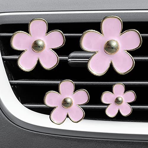 4xPACK Light Pink Car Accessories Cute Car Decoration Air Freshener Car Accessories For Women Cute...