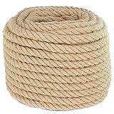 Twisted Manila Rope Jute Rope 100 Feet Natural Jute Twine Hemp Rope 5/8-Inch Diameter Twine Burlap Rope