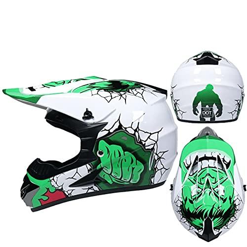 DZSLTC Cascos Moto Y Elegantes Hombre Mujer Motocross Casco Motocross Racing Casco Cross Helm Capacetes Casco Integral Protector Seguridad Cabeza (Color : S, Tamaño : S)