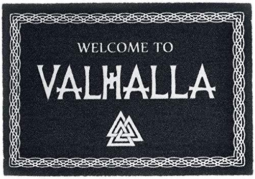 Welcome to Valhalla Fußmatte schwarz/weiß