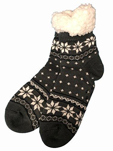 VON LAMEZAN Goldline Hüttensocken ABS - Socken Norway-Style Stoppersocken Kuschelsocken Wohlfühlsocken (39-42, Nr.64)