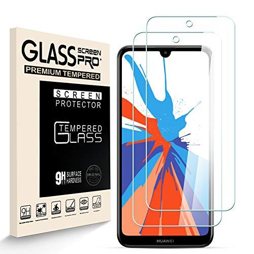 HJX Pellicola Protettiva in Vetro Temperato per Huawei Y7 2019 [2 Pezzi], Durezza 9H, 2.5D Alta Definizione, Senza Bolle, Anti Graffio Screen Protector per Huawei Y7 2019