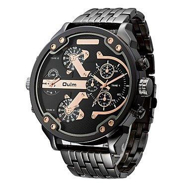 Herrenuhren, Oulm Herren Sportuhr Militäruhr Kleideruhr Modeuhr Armbanduhr Armband-Uhr Einzigartige kreative Uhr Japanischer QuartzWasserdicht Duale ( Farbe : Rotgold , Geschlecht : Für Manner )