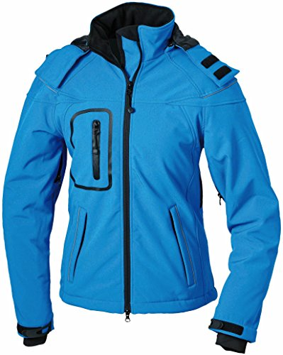 JN1001 Ladies' Winter Softshell Jacket Modische Winter Softshelljacke XL,Aqua
