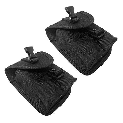 2x Escafandra Bolsillo de Cinturón Peso Buceo Accesorio de 14 x 12 x 4 cm Durable