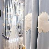Verdunkelungsvorhang,Weiße Wolke/Pastoral Koreanisch/Halbschatten/Stickerei Blume/Wärmedämmvorhang/für Kinderzimmer/Schlafzimmer/Wohnzimmer/Balkon/1pcs