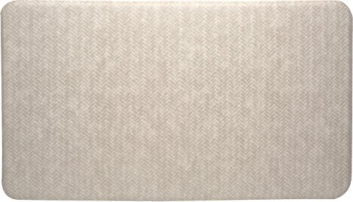 Imprint Cumulus9 Kitchen Mat Chevron Series 20 in. x 36 in. x 5/8 in. Light Tan