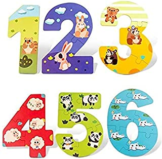 Alyasameen Montessori Large Piece Learning Card, Wooden Alphabet/Numbers Puzzles, ABC Learning, Sight Words Letter Puzzles...