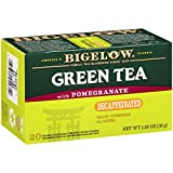 Bigelow Tea Green Tea with Pomegranate Decaf  Decaffeinated Individual Green Tea Bags, for Hot Tea or Iced Tea, Drink Plain or Sweetened with Honey or Sugar,20 Count(Pack of 6), 120 Tea Bags Total.