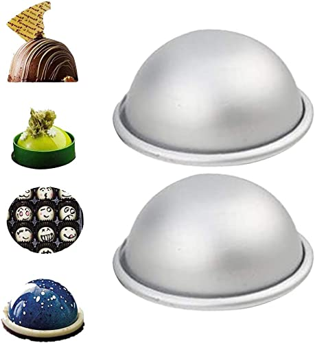 2021 OPTIMISTIC new arrival 3D Mini Aluminum Hemisphere Pan Half Ball Sphere Bath Bomb Cake Pan Tin Baking Mold Pastry Mold, Aluminum Cake Pan Round, Cake Mold for 2021 Jello,Bunt-Cake,Gelatin,Bread, Bake-Ware (L,2.7In) online