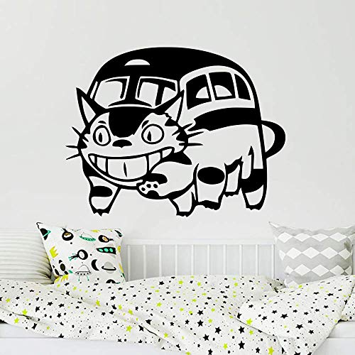 Muursticker auto laptop buurman totoro kat bus muur auto laptop sticker Vinyl kunst 73x56cm