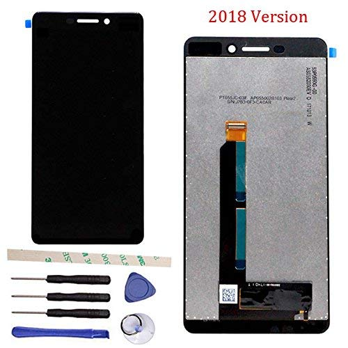 "General Di Riparazione e Sostituzione Display LCD + Touch Screen Digitizer Vetro Schermo Assemblea Per Nokia 6 II 2 2018/For Nokia 6 (6.1 2018) TA-1043 TA-1045 TA-1050 TA-1054 TA-1068 5.5"" (Nero)"