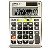 12-Digit Business Calculator - CATIGA CD-2738-12T - Dual-Power - Tax Calculator (Gold)