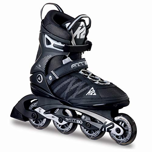 K2 Herren Inline Skates F.I.T. 80 - Schwarz-Grau - EU: 38 (US: 6 - UK: 5) - 30A0003.1.1.060