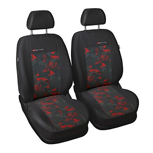GSC Sitzbezüge Universal Schonbezüge 1+1 kompatibel mit Skoda Fabia