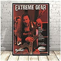Suuyar Dimebag Darrell Music Rock Music Band Metal Guitarist Poster And Prints Wall Art Print On Canvas For Living Room-24X32 Inchx1 Frameless