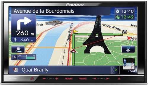 Pioneer AVIC-F40BT Mediacenter Navigations- & Entertainment-System (17,8 cm (7 Zoll) Touchscreen, RDS-UKW/MW-Tuner, Doppel-DIN)