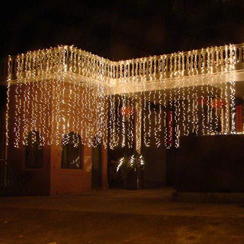 Holiday String, Light String Project Verlichting Tuin Decoratie Multi-Functie Waterval Licht 10 Meter Brede LED Gordijn Licht Bewaar Kleur lamp Breedte 10 Meter, Hoogte 2 Meter Kleur