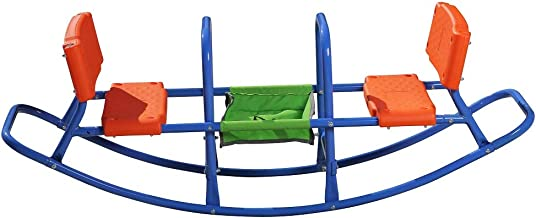 Kids Teeter Totter Outdoor Seesaw: Outdoor Play - Children, Boys, Girls, Kid, Youth Ride ON Toy - Living Room, Lawn, Backyard, Playground - Gifts, Party - Ages 3 - 6 Rocking HIGH Chair