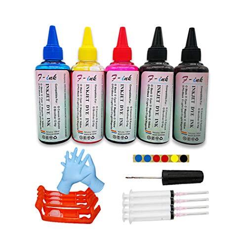 Fink - 5 botellas de tinta y tinta para cartuchos de tinta compatibles con HP 903 903XL, para impresoras HP Officejet Pro 6950 6960 6970 6961 6963 6978 6966 6968 6971 6971