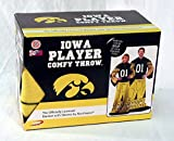 Northwest University of Iowa Hawkeyes Full Player Comfy Throw - The Blanket with Sleeves