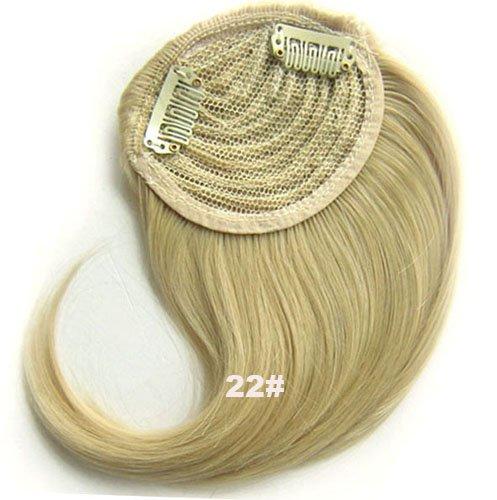 # 22/Frange Frange Cheveux Synthétiques Cheveux Clip dans/sur le côté