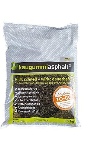 Kaugummiasphalt® 0/5 - 25 kg Sack - Kaltasphalt / Reparaturasphalt