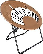 كرسي مستدير للاستخدام في غرفة المعيشة من براون
