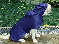 大ペットライニングジャケット犬のレインコートポータブル防水犬の服XS - 3XL(ブルー)