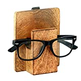 Craft Lyrics Wooden Spectacle Holder Hand Carved | 4x2 | Desk Table Accessories | Wood | Eyeglass Spectacle Eyewear Spec Wooden Display Stand | Brown Color | Men & Women Perfect Home Office Decor