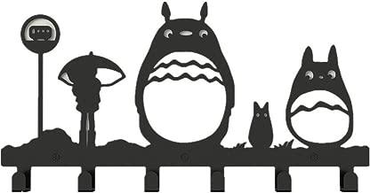 WGW Animal Cat Girl Pattern Classic Simple Metal Bag Hanger Coat Rack Clothing Heavy Hooks Black