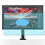 [2 Pack] Synvy Anti Blue Light Screen Protector, Compatible with LG UltraFine Ergo 32UN880 31.5' Display Monitor TPU Film Protectors [Not Tempered Glass]