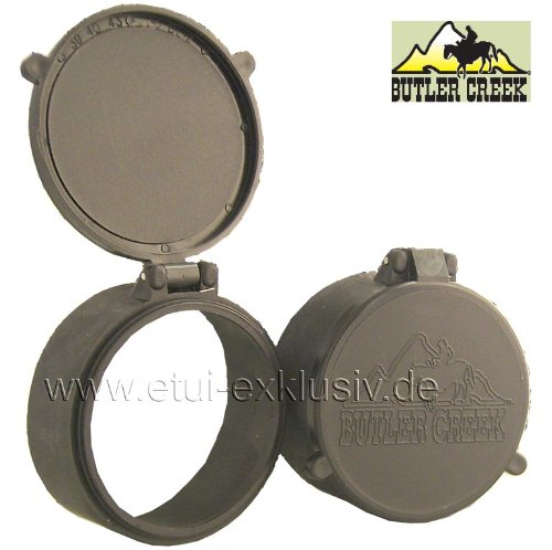 Objektivschutzkappe Zielfernrohr Schutzkappe Butler Creek, Flip Open,OBJ34, Ø 53,3mm, Docter und Frankonia, Zeiss 2,5–10x48,