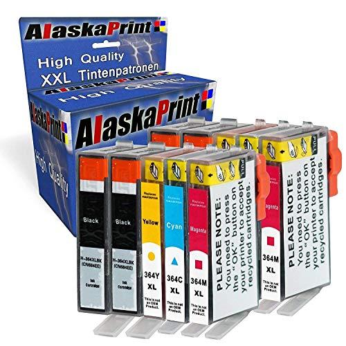 Alaska 10 Druckerpatronen Ersatz für HP 364 XL 364XL kompatibel mit HP Photosmart 5520 5524 5510 B110 C3180 7520 Deskjet 3520 3070A Officejet 4620 4622 Patronen Schwarz Cyan Magenta Yellow
