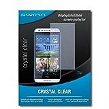 SWIDO Schutzfolie für HTC Desire 620G Dual SIM [2 Stück] Kristall-Klar, Hoher Festigkeitgrad, Schutz vor Öl, Staub & Kratzer/Glasfolie, Bildschirmschutz, Bildschirmschutzfolie, Panzerglas-Folie