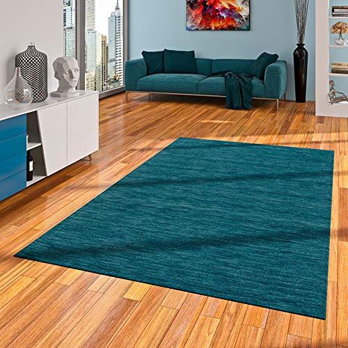 Ella - Tapis Indo Gabbeh - Naturel - Turquoise - 8 Tailles Disponibles