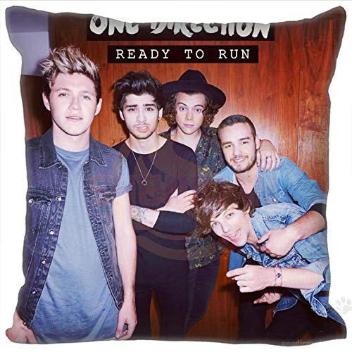 Hot Custom One Direction Square Pillowcase Custom Zippered Bedroom Home Pillow Cover Case