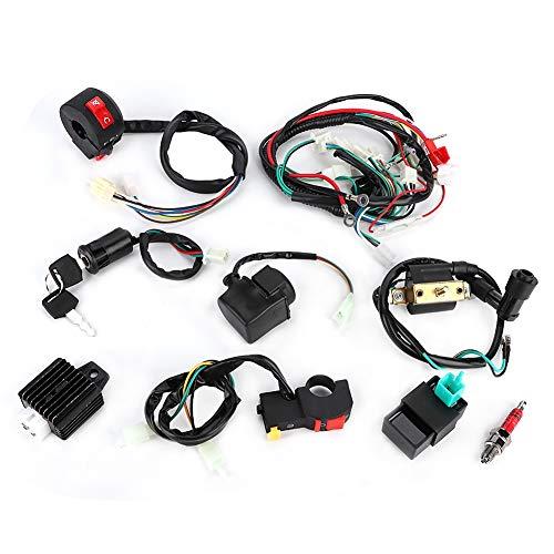 Regulador de voltaje, arnés de cables, bobina magnética, rectificador, juego de controlador CDI, adecuado para 50 cc, 70 cc, 110 cc, 125 ccm, ATV, Quad Bike