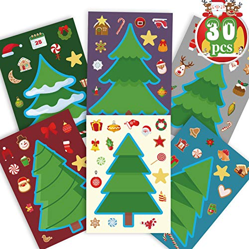 Funnlot Christmas Crafts for Kids Christmas Stickers for Kids Christmas Tree Stickers Christmas Activities for Kids Toddlers Christmas Games for Kids Toddler