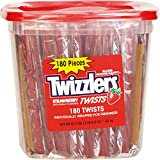 Bulk Pack Candy (Twizzlers, Strawberry, 180-pack)