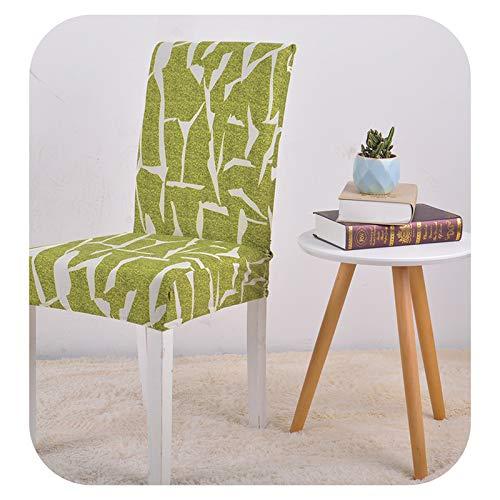Funda de silla elástica extensible para boda, comedor, oficina, banquete, funda de silla, lima, 6 unidades