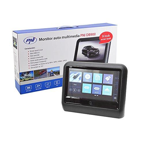 9 Zoll Universal AutoDVD Multimedia Player, Kopfstütze Monitor PNI DB900, SD Kartensteckplatz, USB-Anschluss, FM transmitter