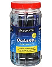 Classmate Octane Gel Pen (Blue & Black)- Pack of 25 + 10 Gel Refills FREE