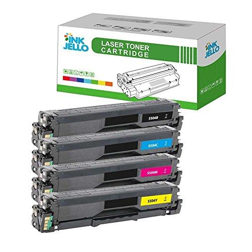 InkJello kompatibel Toner Patrone Ersatz für Samsung CLP-415N CLP-415NW CLX-4195FN CLX-4195FW Xpress SL-C1810W Xpress SL-C1860FW CLT-504S (Schwarz,Cyan,Magenta,Gelb 4-Pack)