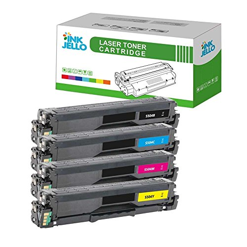 InkJello Compatibile Toner Cartuccia Sostituzione Per Samsung CLP-415N CLP-415NW CLX-4195FN CLX-4195FW Xpress SL-C1810W Xpress SL-C1860FW CLT-504S (Nero,Ciano,Magenta,Giallo 4-Pack)